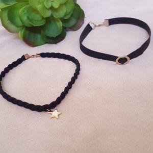 "Choker  necklace 11"" long bundle"